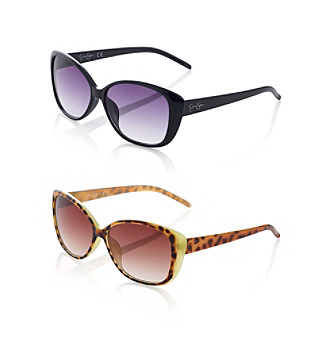 Jessica Simpson Plastic Cat Eye Overlay Sunglasses