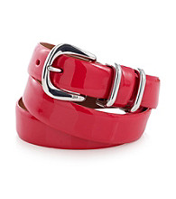Lauren Ralph Lauren Red Patent Belt
