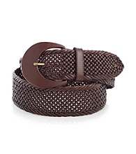 Lauren Ralph Lauren Brown Braided Belt