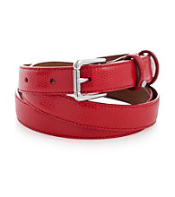 Lauren Ralph Lauren Red Faux Lizard Belt
