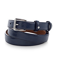 Lauren Ralph Lauren Navy Faux Lizard Belt