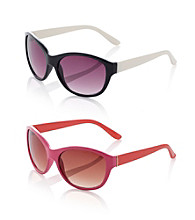 Relativity® Plastic Medium Cat Eye Sunglasses