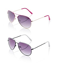Relativity® Metal Medium Aviator Sunglasses