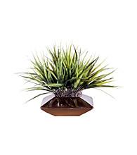 Vickerman Short Grass in Pewter Container