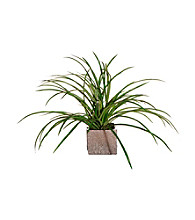 Vickerman Raintree Grass in Brushed Silver Ceramic Cube
