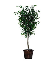 Vickerman 6' Deluxe Ficus Deluxe in Dark Brown Rattan Basket
