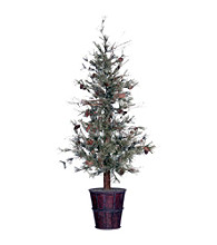 Vickerman 6' Feathered Pine in Metal Container