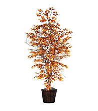 Vickerman Golden Birch in Dark Brown Rattan Basket