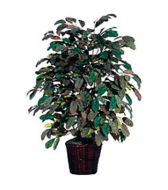 Vickerman 4' Extra Full Frosted Apple in Rattan Basket