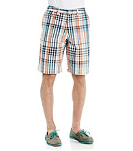 John Bartlett Consensus Men's Orange Papaya Twill Flat Front Short