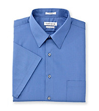 Van Heusen® Men's Blue Cloud Short Sleeve Poplin Dress Shirt