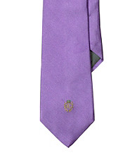 Lauren® Men's Lavender Signature Crest Solid Silk Tie