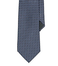 Lauren® Men's Navy Circle Jacquard Silk Tie