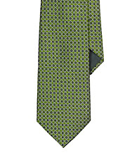 Lauren® Men's Green Circle Jacquard Silk Tie