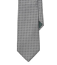 Lauren® Men's Silver Circle Jacquard Silk Tie