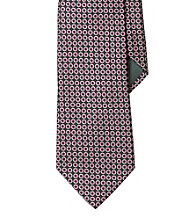 Lauren® Men's Black Circle Jacquard Silk Tie