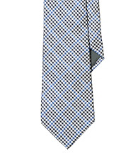 Lauren® Men's Navy Gingham Silk Tie