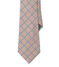 Lauren® Men's Orange Gingham Silk Tie