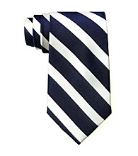 Izod® Men's Navy Ranger Stripe Silk Tie