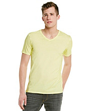 Guess Men's Yellow Flash Washed Gunnar V-Neck