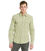 Guess Men's Yellow Flash Long Sleeve Gabriel Shirt