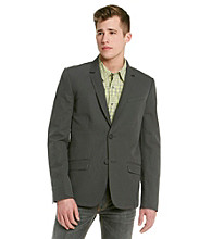Guess Men's Suede Grey Horizon Linen Blazer