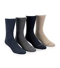 Calvin Klein Men's Heatherd Navy/Charcoal/Navy/Khaki4-Pack Men's Assorted Ankle Socks