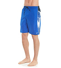 Nike® Men's Hyper Blue Palm Break Splice Swim Short