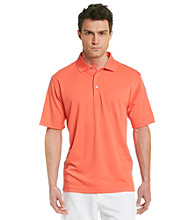 PGA TOUR® Men's Orange Peel Solid Mesh Polo