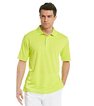 PGA Tour® Men's Lime Punch Solid Mesh Polo