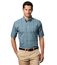 Van Heusen® Men's Short Sleeve Windowpane Woven Shirt