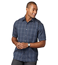 Van Heusen® Men's Short Sleeve Textured Windowpane Woven Shirt