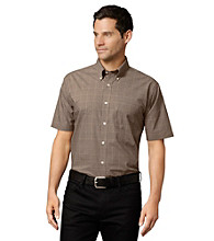Van Heusen® Men's Khaki Aluminum Short Sleeve Glennplaid Shirt