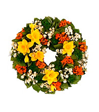 Dazzling Daffodils Dried Floral Wreath