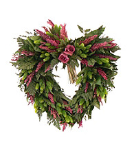 Love Eternal Dried Floral Heart Wreath