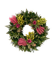 Love Eternal Dried Floral Wreath