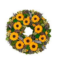 Sunflower Bouquet Dried Floral Wreath