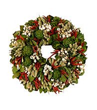 Zesty Chili and Mixed Herb Dried Floral Wreath