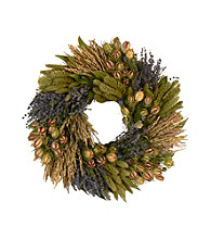 Lavender Grassland Dried Floral Wreath