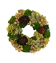 Lotus Lagoon Dried Floral Wreath