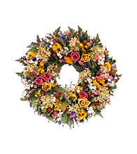 Petals and Pomes Dried Floral Wreath