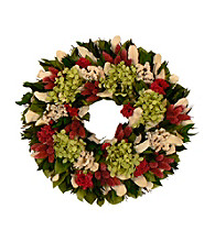 Ravishing with Raspberry Dried Floral Wreath