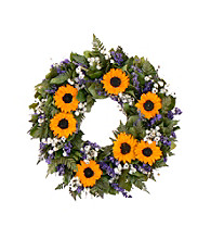 Sunflower Wingding Dried Floral Wreath