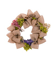Blooms with Burlap Dried Floral Wreath
