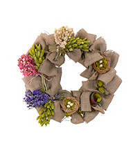 Bird's nest and Blooms with Burlap 20