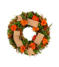 Splendid Poppy Dried Floral Wreath