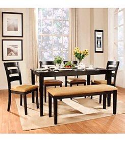 Home Interior 6-pc. Horizontal Slat Back Dining Set