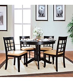 Home Interior 5-pc. Window Back Pedestal Dining Set