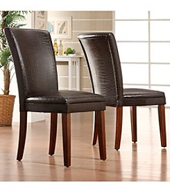 Home Interior 2-pc. Faux Alligator Side Chairs