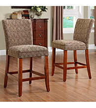 Home Interior 2-pc. Damask Counter Height Chairs